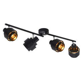 vidaXL Spotlys 4-veis svart E14