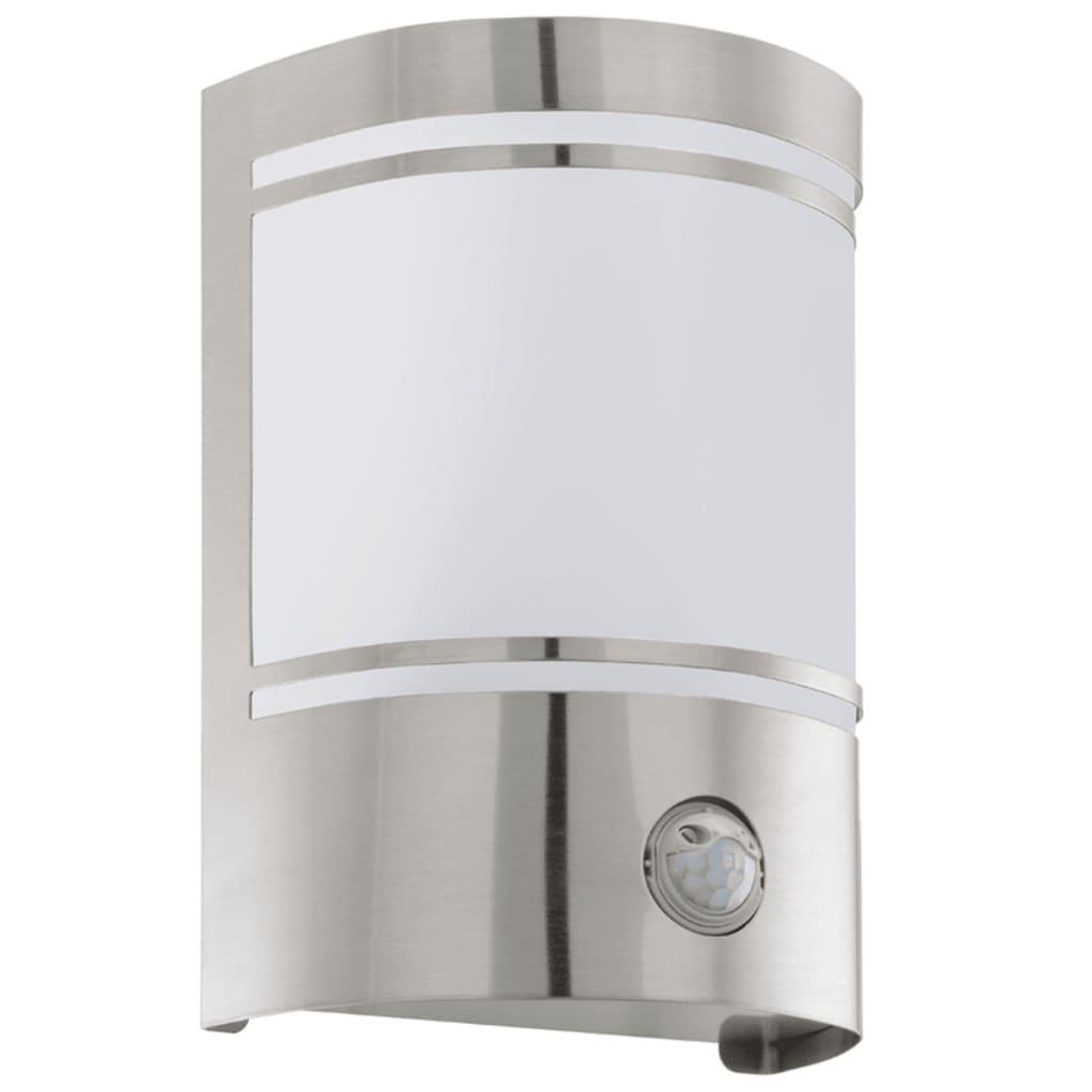 EGLO Utendørs sensorvegglampe Cerno 40 W sølv 30192