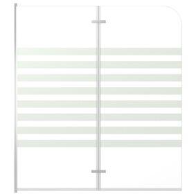 vidaXL Badekarvegg 120x140 cm herdet glass stripet