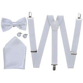 vidaXL Smoking seler & slips sett i hvitt for herrer
