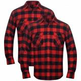 vidaXL 2 Herre rutete flanellskjorter, rød/svart XXL