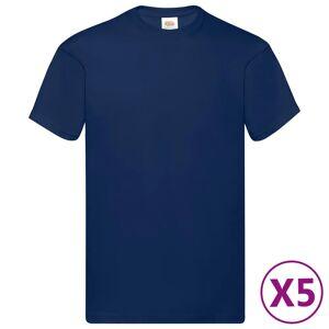 Fruit of the Loom Originale T-skjorter 5 stk marineblå S bomull