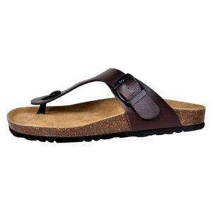 vidaXL Biokork sandaler kvinner flippflopp-design brun størrelse 36