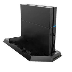 INF PS4 / PS4 Slank vertikal stativ med kjølevifte, ladestasjon, USB Hub
