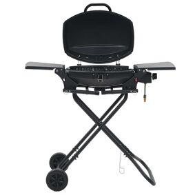 vidaXL Bærbar gassgrill med en kokesone svart