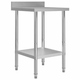 vidaXL Arbeidsbord for kjøkken med bakplater 60x60x93 rustfritt stål