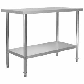 vidaXL Arbeidsbord for kjøkken 120x60x85 cm rustfritt stål