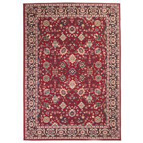 vidaXL Orientalsk teppe 140x200 cm rød/beige