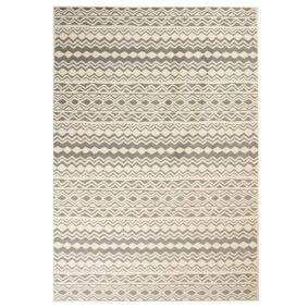 vidaXL Moderne teppe tradisjonelt design 120x170 cm beige/grå