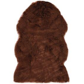 vidaXL Teppe 60x90 cm kunstig saueskinn brun