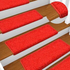 vidaXL Trappetrinnstepper 15 stk 65x25 rød