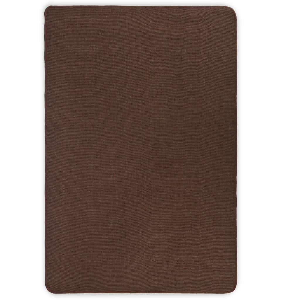 vidaXL Juteteppe med lateksbakside 190x240 cm mørk brun