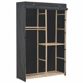 vidaXL Garderobeskap 3 etasjer grå 110x40x170 cm stoff
