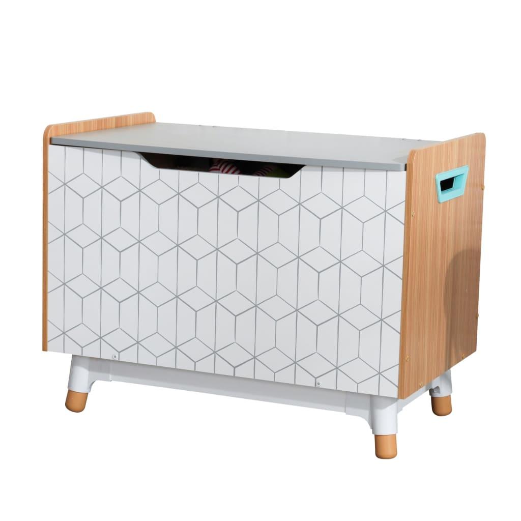 KidKraft Leketøyskasse Mid-Century Modern grå 73,99x46x55,88 cm