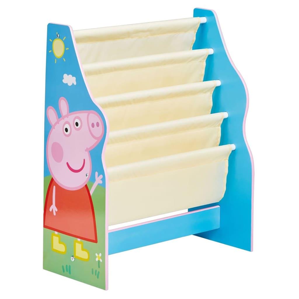 Peppa Pig Peppa Gris Bokhylle for barn 51x23x60 cm blå WORL213012