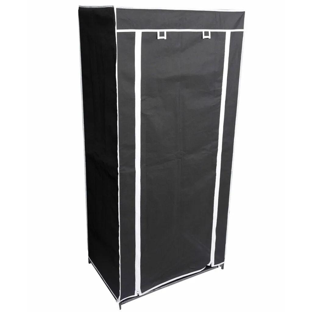 Perel Sammenleggbar garderobe 70x46x148 cm svart MP66