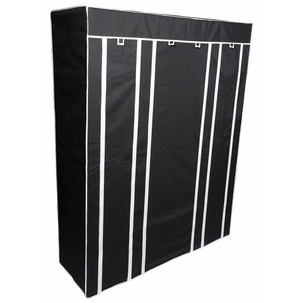Perel Sammenleggbar garderobe 135x45x170 cm svart MP68