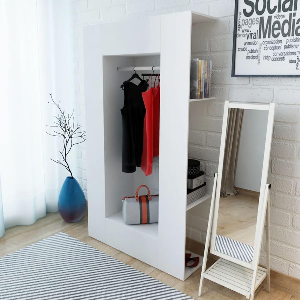 vidaXL Garderobeskap sponplate 106x36,5x192 cm hvit