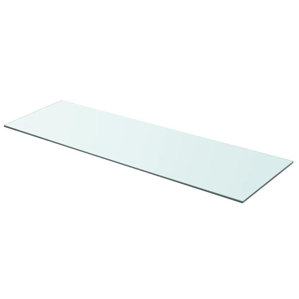 vidaXL Hyllepanel klart glass 90x30 cm