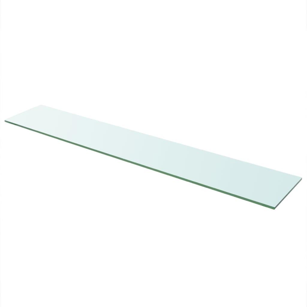 vidaXL Hyllepanel klart glass 110x20 cm