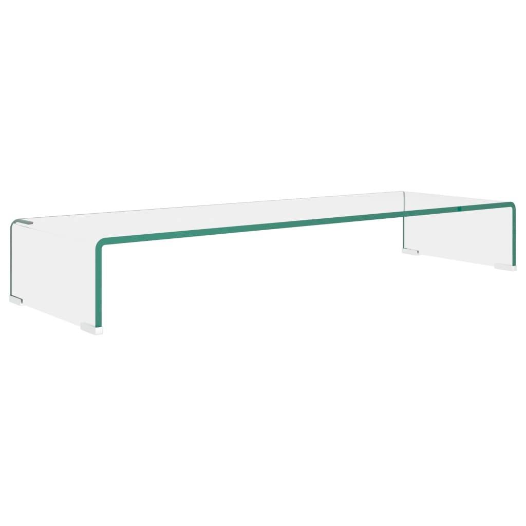 vidaXL TV-benk glass klar 90x30x13 cm