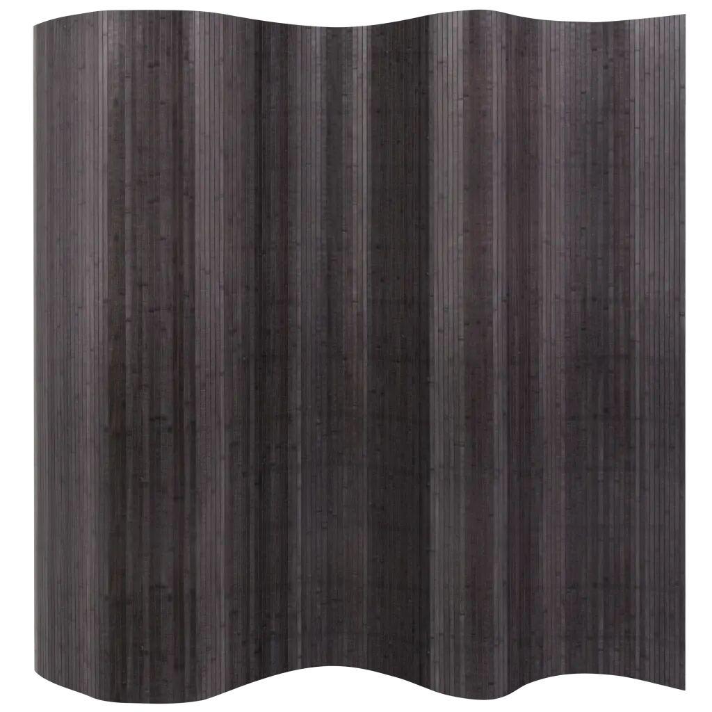 vidaXL Romdeler bambus grå 250x195 cm