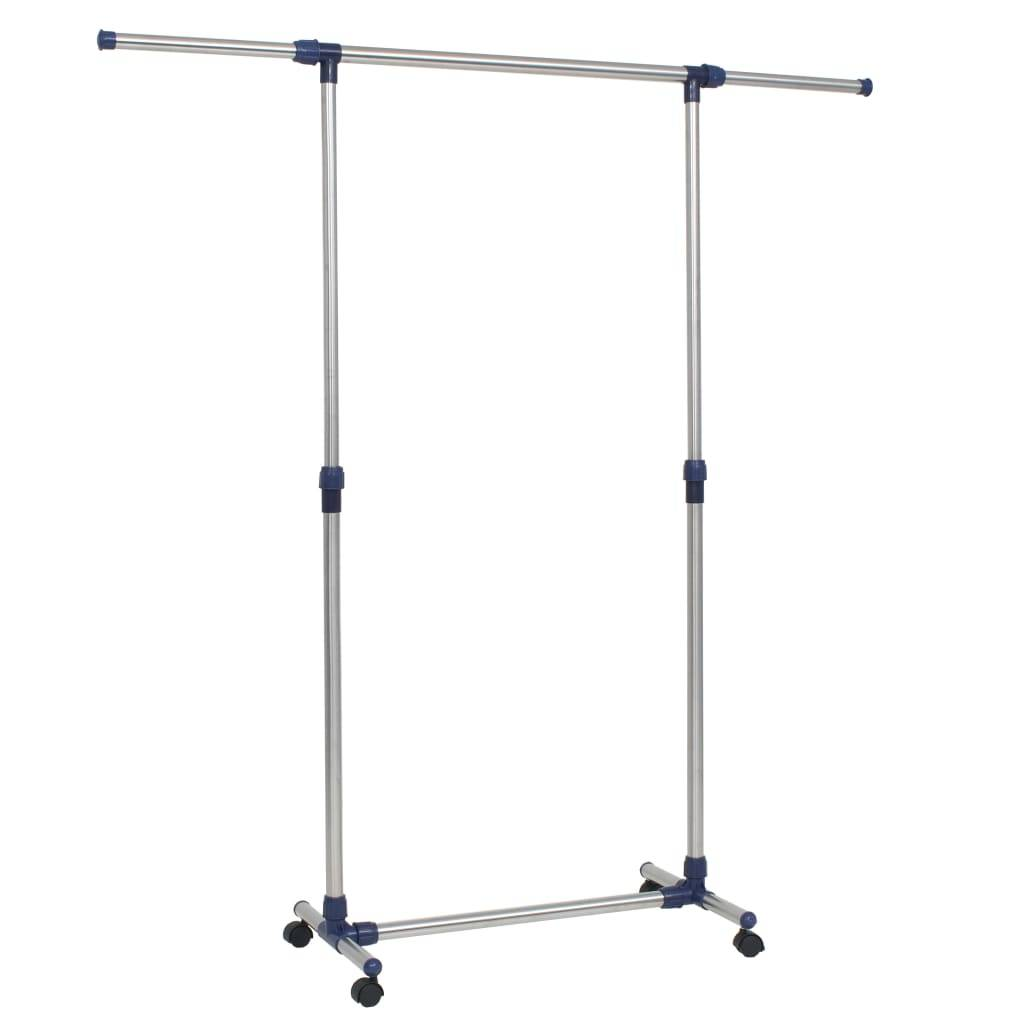 vidaXL Justerbar klesstativ rustfritt stål 165x44x150 cm sølv