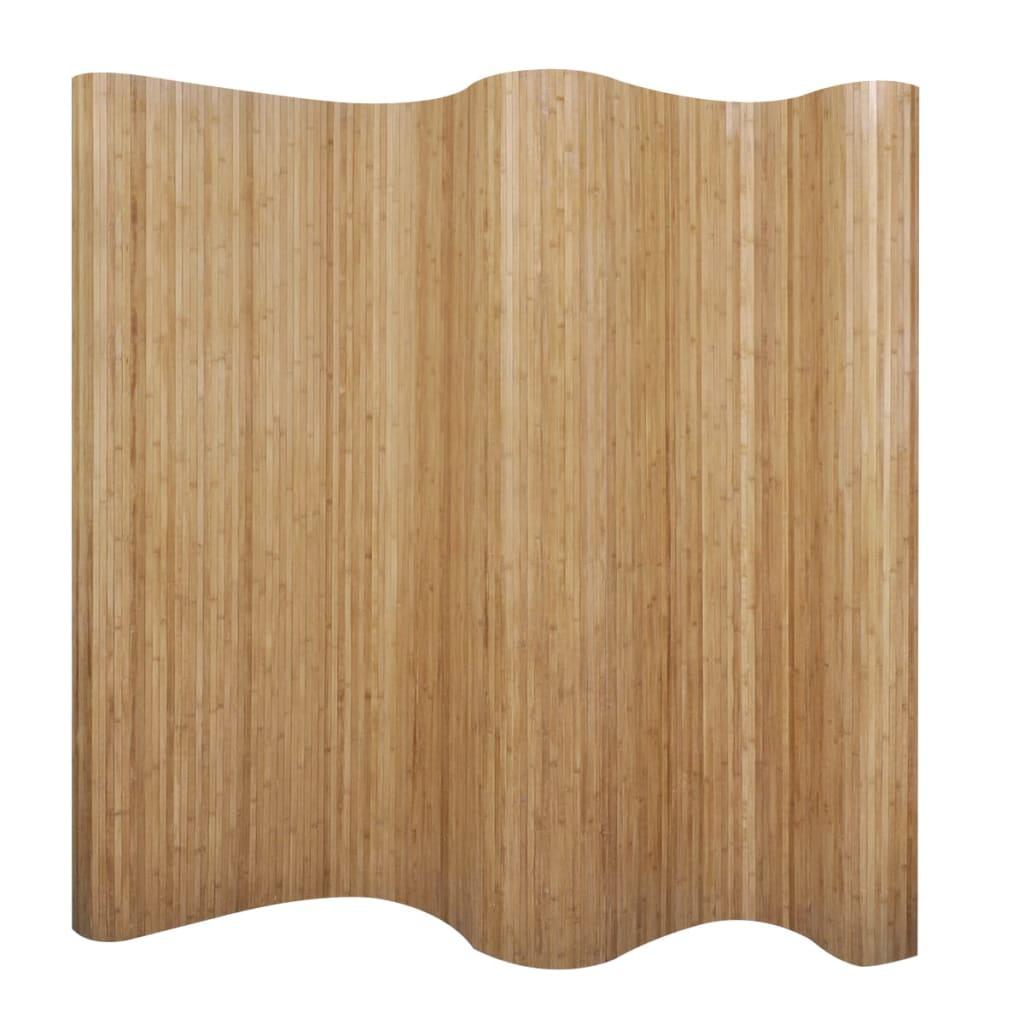 vidaXL Romdeler bambus naturlig 250x195 cm