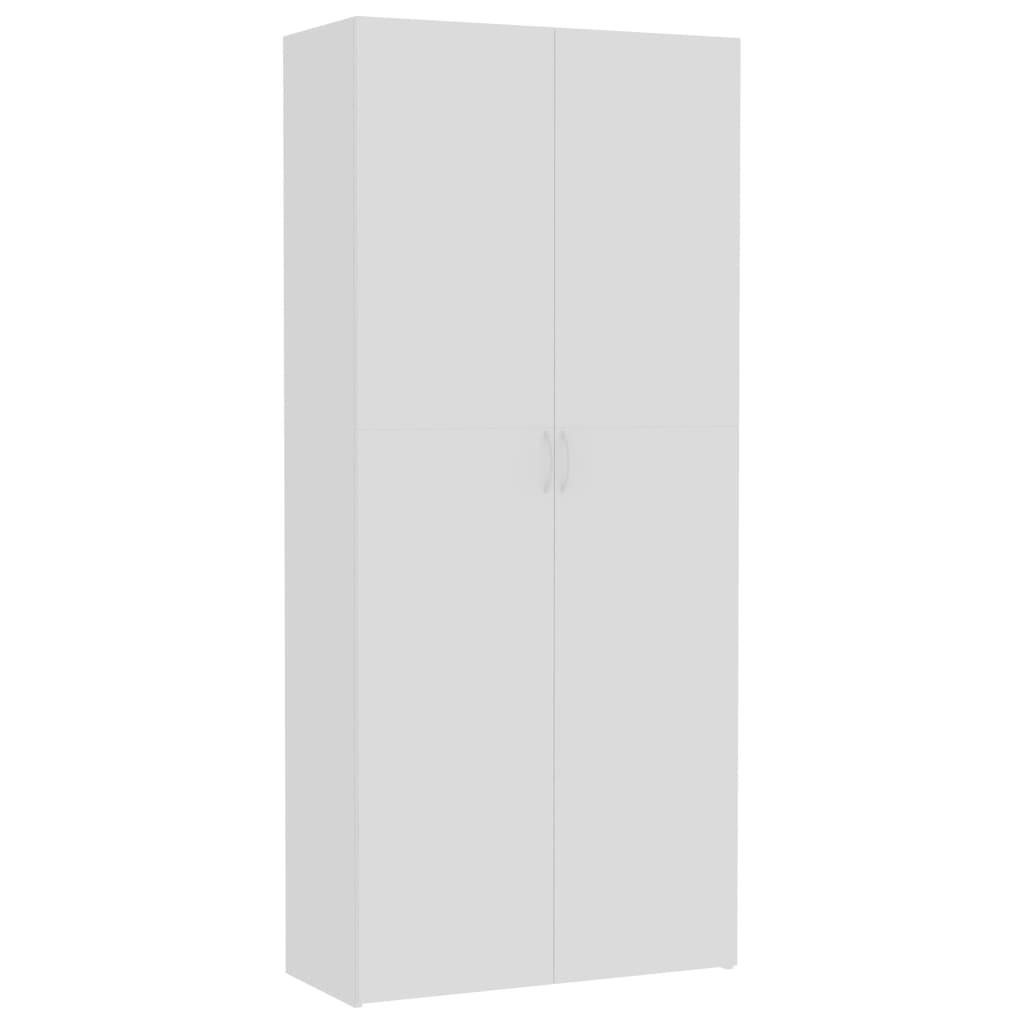 vidaXL Oppbevaringsskap hvit 80x35,5x180 cm sponplate