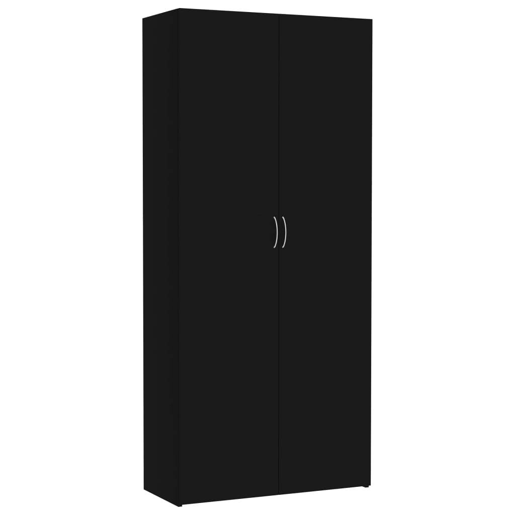 vidaXL Oppbevaringsskap svart 80x35,5x180 cm sponplate