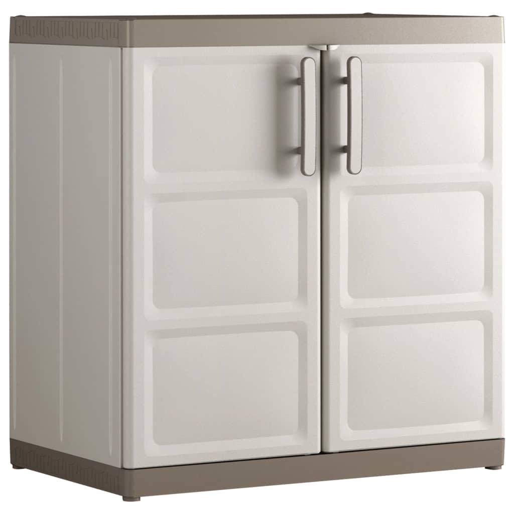 Keter Baseskap Excellence XL beige og gråbrun 89x54x93 cm
