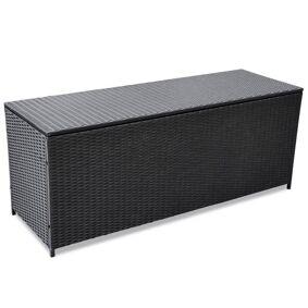 vidaXL Putekasse 150x50x60 cm polyrotting svart