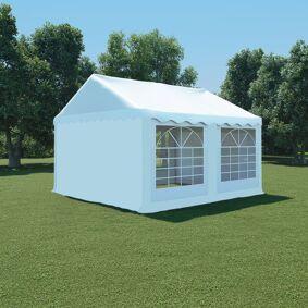 vidaXL Hagetelt PVC 4x4 m hvit