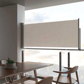 vidaXL Uttrekkbar sidemarkise 100 x 300 cm kremhvit