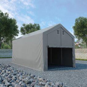 vidaXL Oppbevaringstelt PVC 3x6 m grå