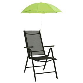 vidaXL Parasoller til campingstol 2 stk grønn 105 cm