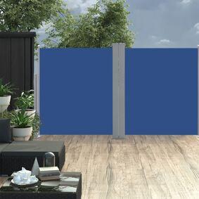 vidaXL Uttrekkbar sidemarkise 160x600 cm blå