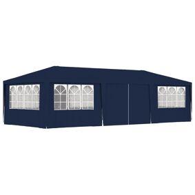 vidaXL Profesjonelt festtelt med sidevegger 4x9 m blå 90 g/m²