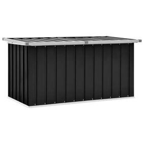 vidaXL Oppbevaringskasse 129x67x65 cm antrasitt