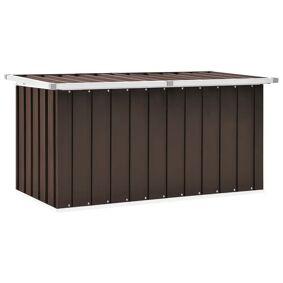 vidaXL Oppbevaringskasse 129x67x65 cm brun