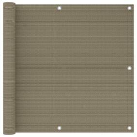 vidaXL Balkongskjerm gråbrun 90x300 cm HDPE