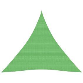 vidaXL Solseil 160 g/m² lysegrønn 4x4x4 m HDPE