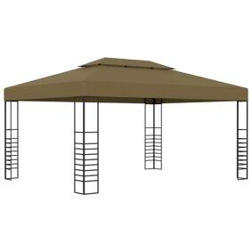 vidaXL Paviljong 3x4 m gråbrun 180 g/m²