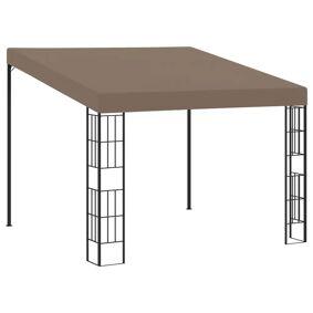 vidaXL Veggmontert paviljong 3x3 m gråbrun stoff