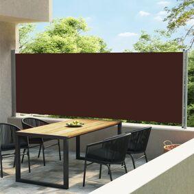 vidaXL Uttrekkbar sidemarkise 600x160 cm brun