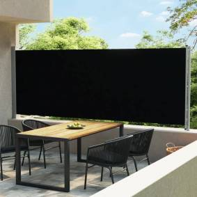 vidaXL Uttrekkbar sidemarkise 600x170 cm svart