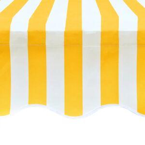 vidaXL Markiseduk solsikkegul og hvit 4 x 3 m (ramme ikke inkludert)