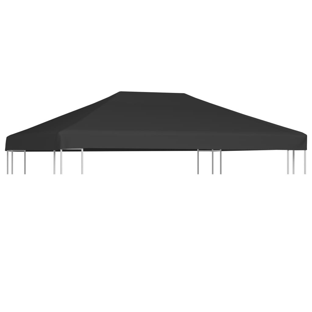 vidaXL Toppduk til paviljong 310 g/m² 4x3 m grå