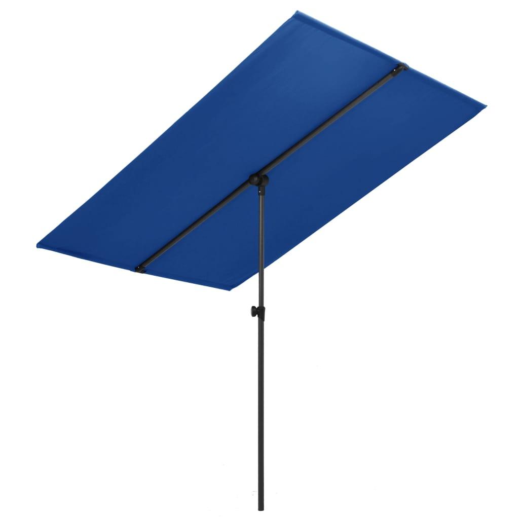 vidaXL Parasoll med aluminiumsstang 180x130 cm asurblå