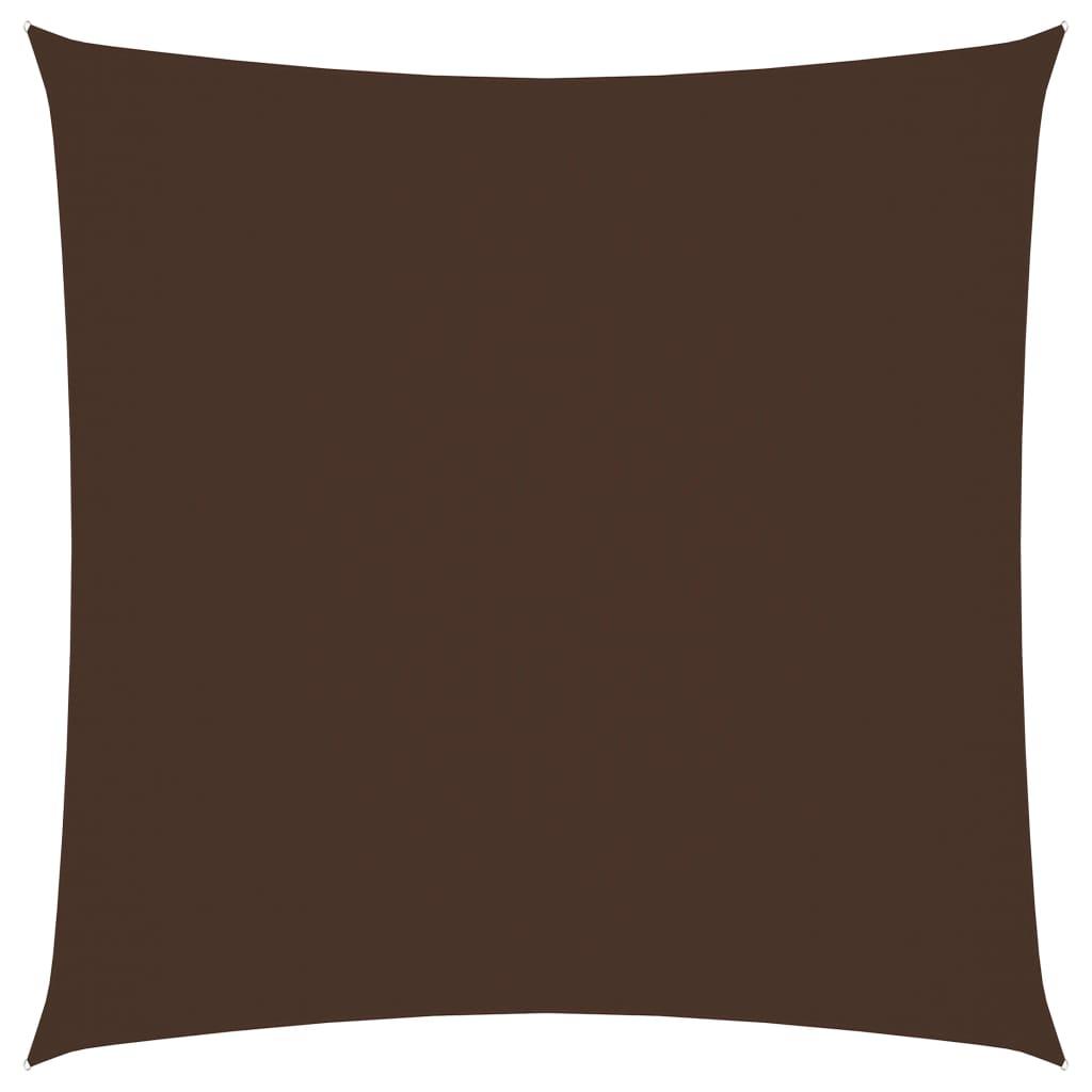 vidaXL Solseil oxfordstoff firkantet 2x2 m brun